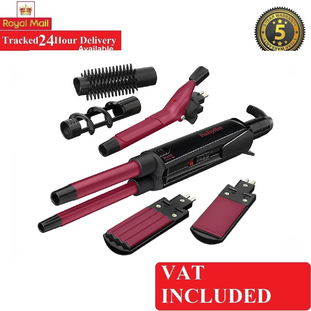 Babyliss 2800cu 12 In 1 Hair Styler Set Kit Straightener