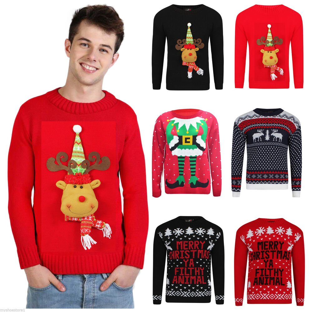 Christmas Jumper Party: Christmas Xmas Party Jumper Sweater Retro Novelty Knitted