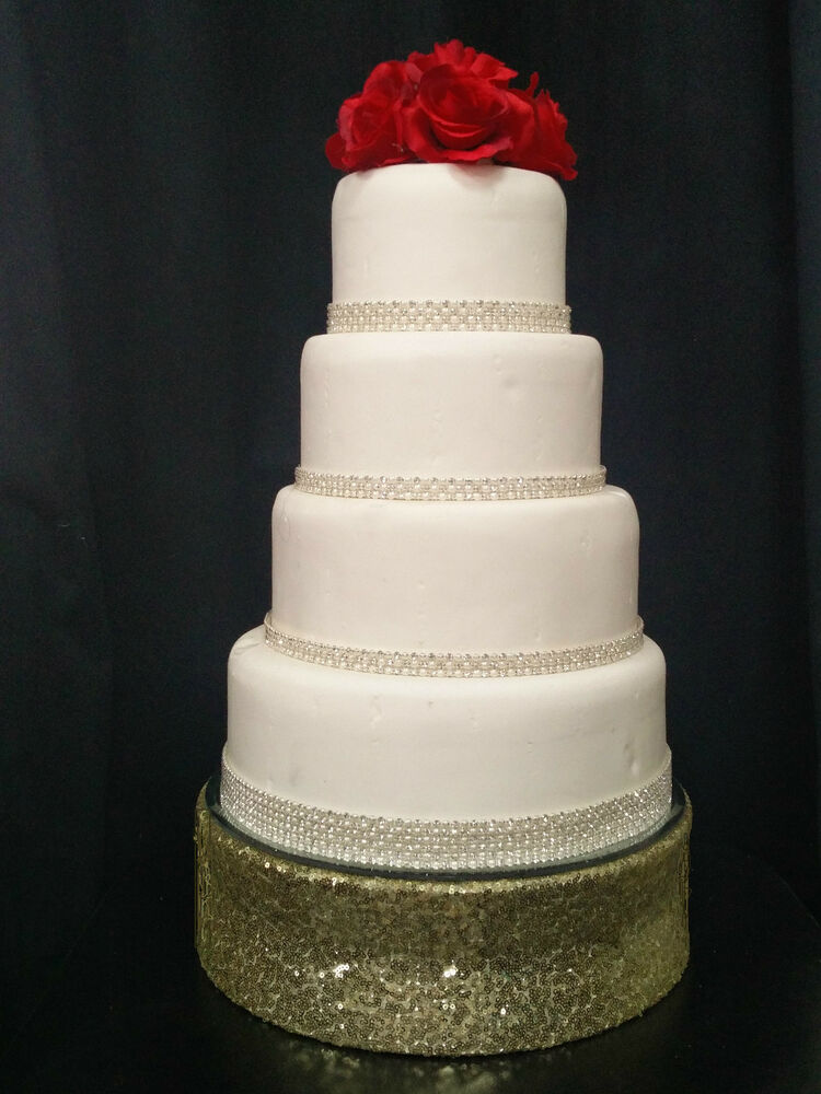 Sequin Bling Wedding Cake Stand Round Or Square Over 30