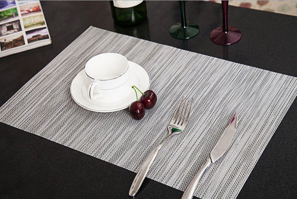 4pcs quick drying placemats insulation mats coasters for Best place to buy a kitchen table