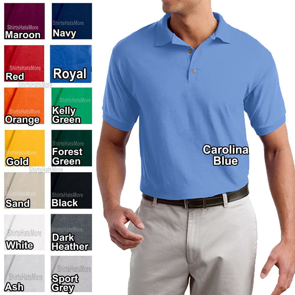 Gildan mens moisture wicking polo shirt dryblend fabric for Mens xs golf shirts
