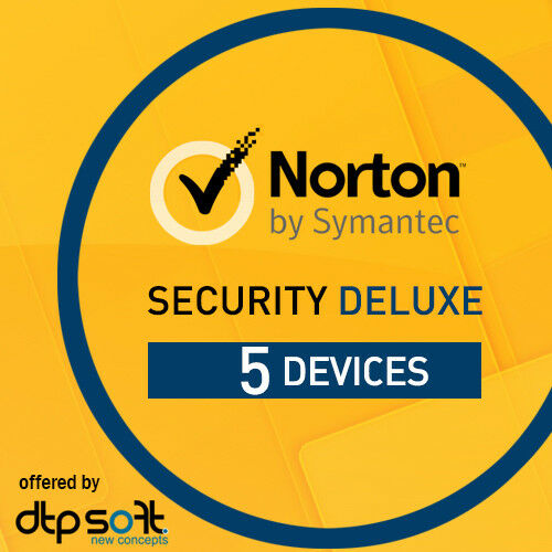 norton security deluxe 2018 3 0 5 devices 5 pc 12 months 2017 pc mac 5 users ebay. Black Bedroom Furniture Sets. Home Design Ideas