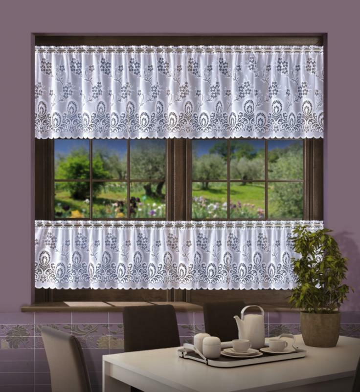"""White Cafe Net Curtain Sold By The Metre 16"""" Or 24"""" Drop"""