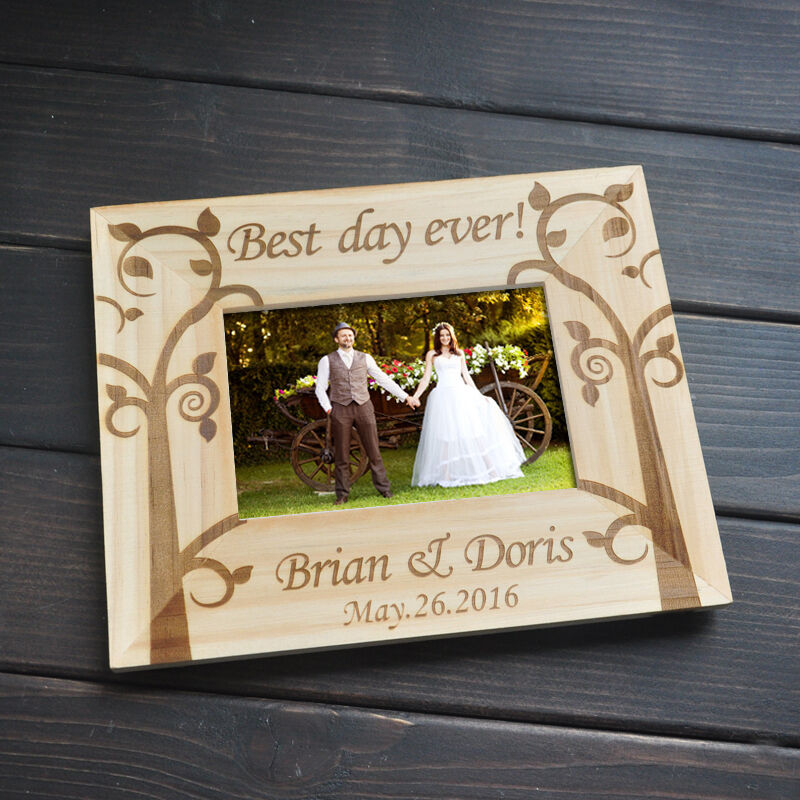 Personalized wedding picture frame engagement gift for for Personalized gifts for wedding