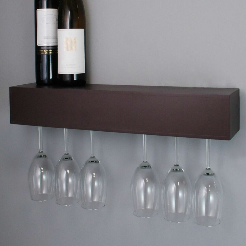 Wine Glass Rack Holder Wall Wood Hanging Storage Hanger