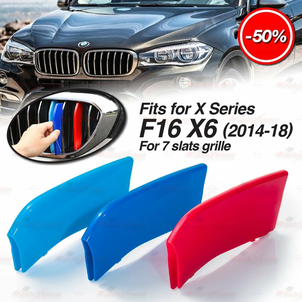 Bmw X6 Usa: M-Tech Kidney Grill Grille 3 Colour Covers Insert Stripe