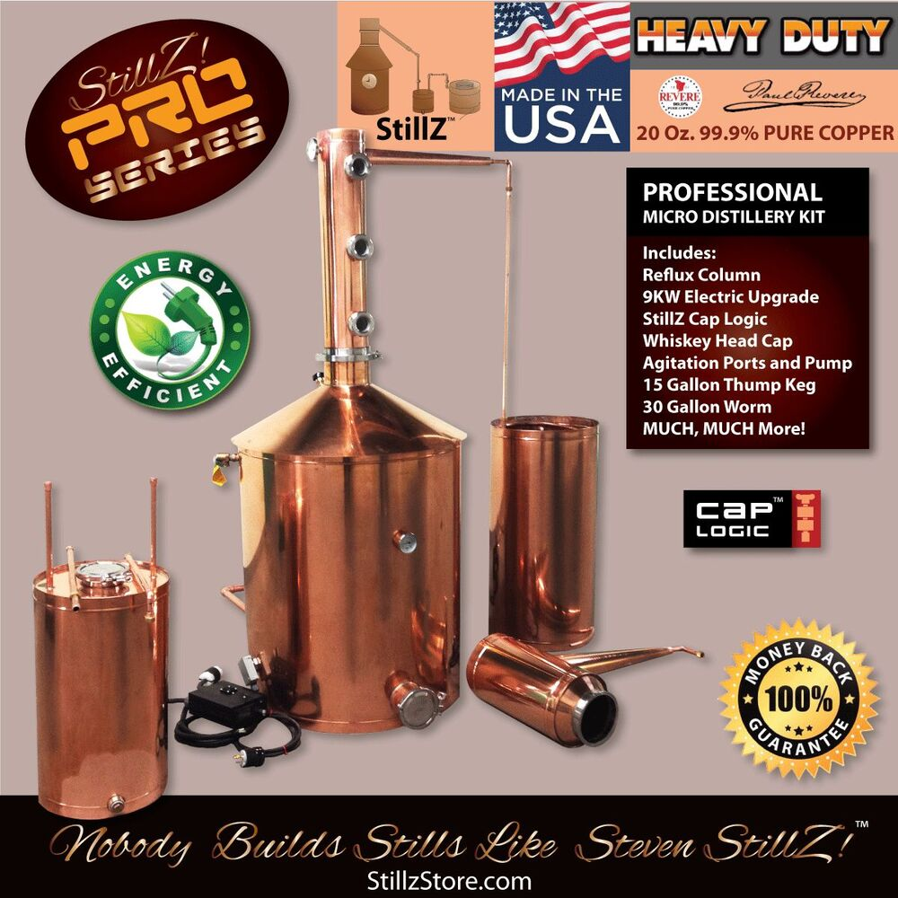 Copper Moonshine Still-100 Gal-Micro Distillery Complete ...