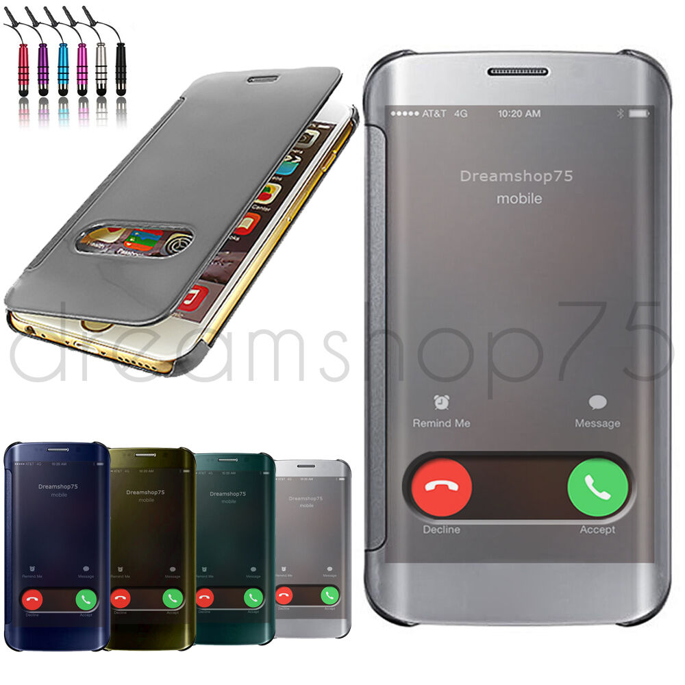 housse coque etui flip cover transparent pour iphone au choix film stylet ebay. Black Bedroom Furniture Sets. Home Design Ideas