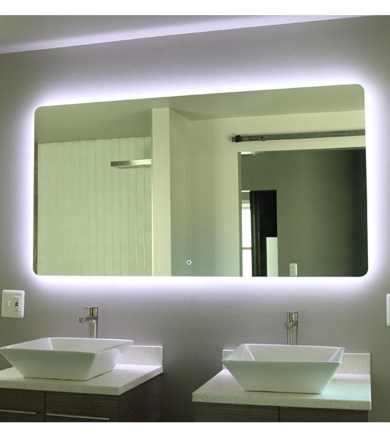 Windbay 60 backlit led light bathroom vanity sink mirror for Mirror 48 x 60