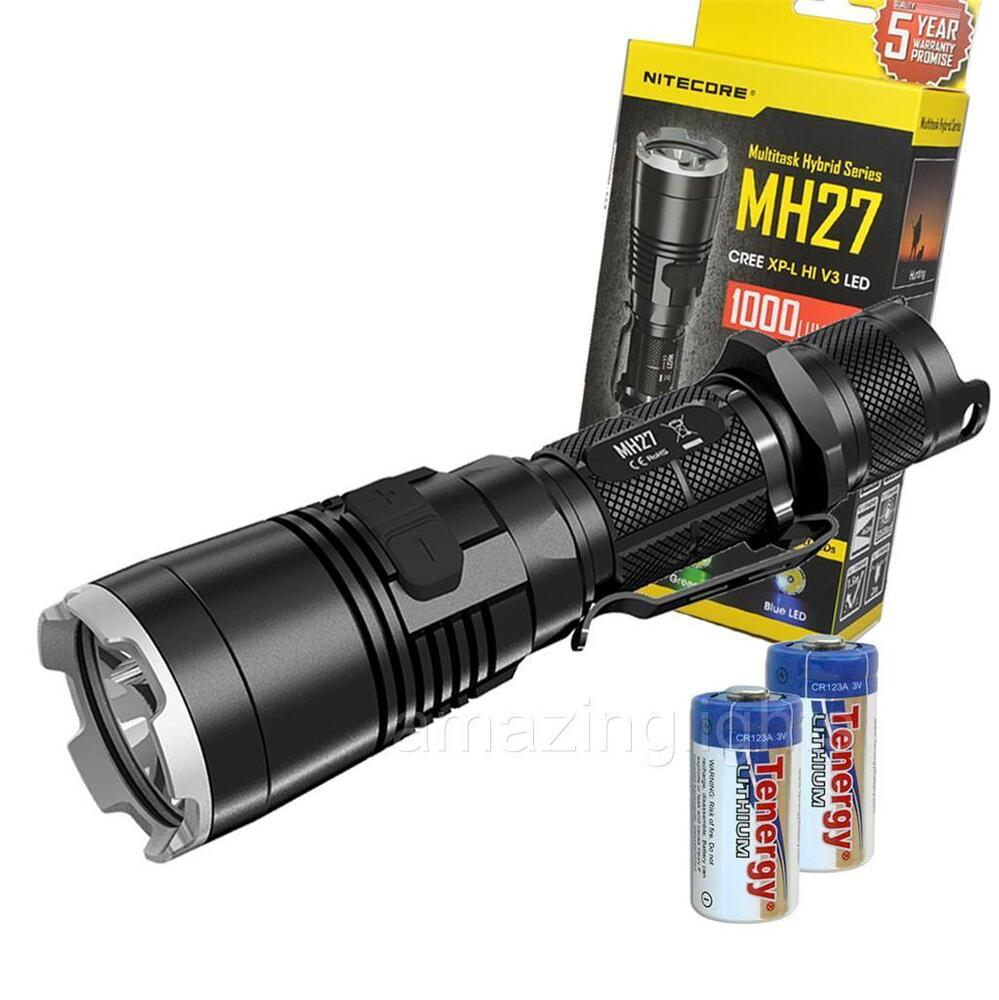 nitecore mh27 rechargeable led flashlight w red blue green light 1000 lumen ebay. Black Bedroom Furniture Sets. Home Design Ideas