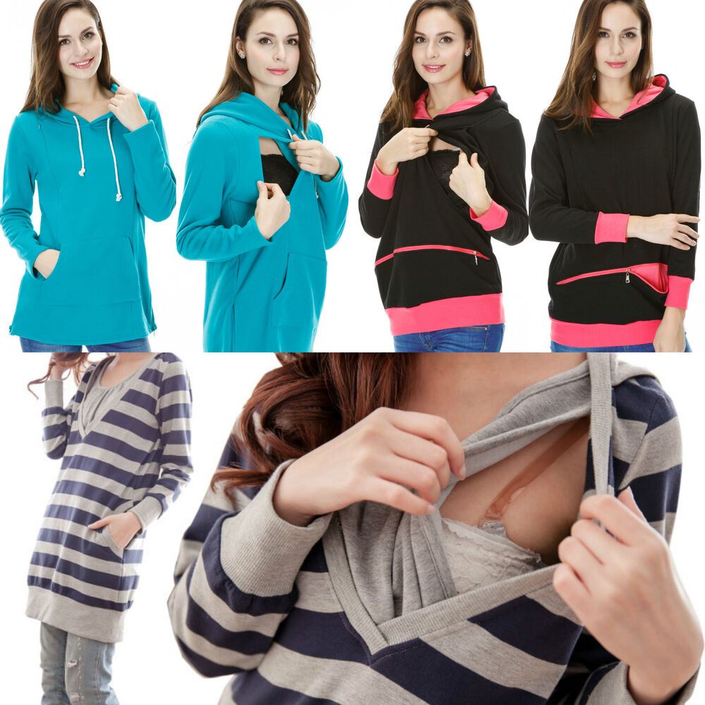 e03476fac6164 Details about Breastfeeding Nursing Jumper Tunic Maternity Dress Top  Clothes 10 12 14 16 18