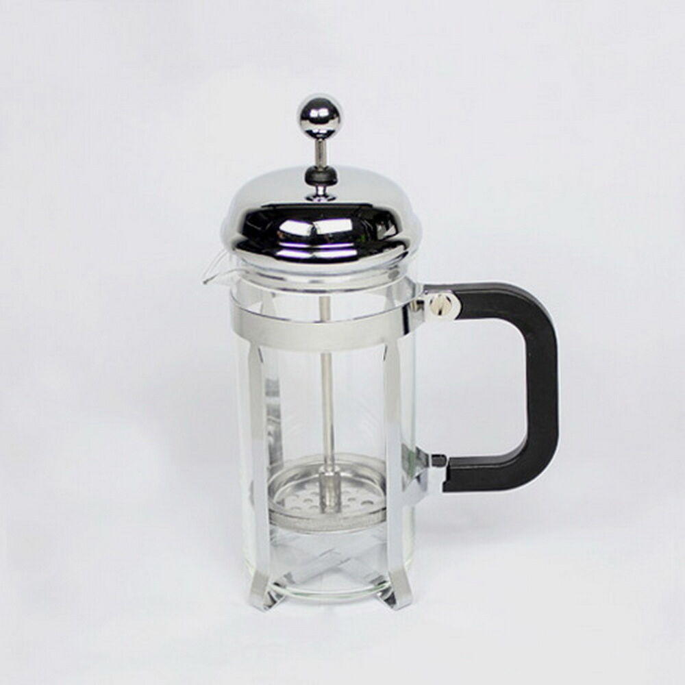 Espresso Coffee Glass ~ Ml stainless steel glass tea coffee cup french plunger