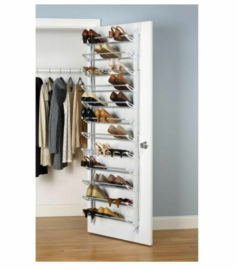 36 Pair Over The Door Hanging Shoe Rack Shelf Organizer
