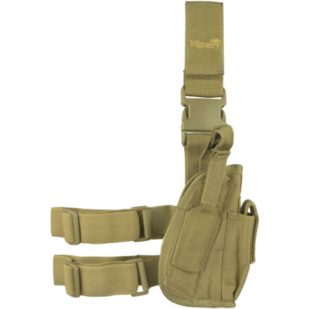 img-VIPER TACTICAL ADJUSTABLE LEG HOLSTER RIGHT HAND MILITARY PISTOL HOLDER COYOTE