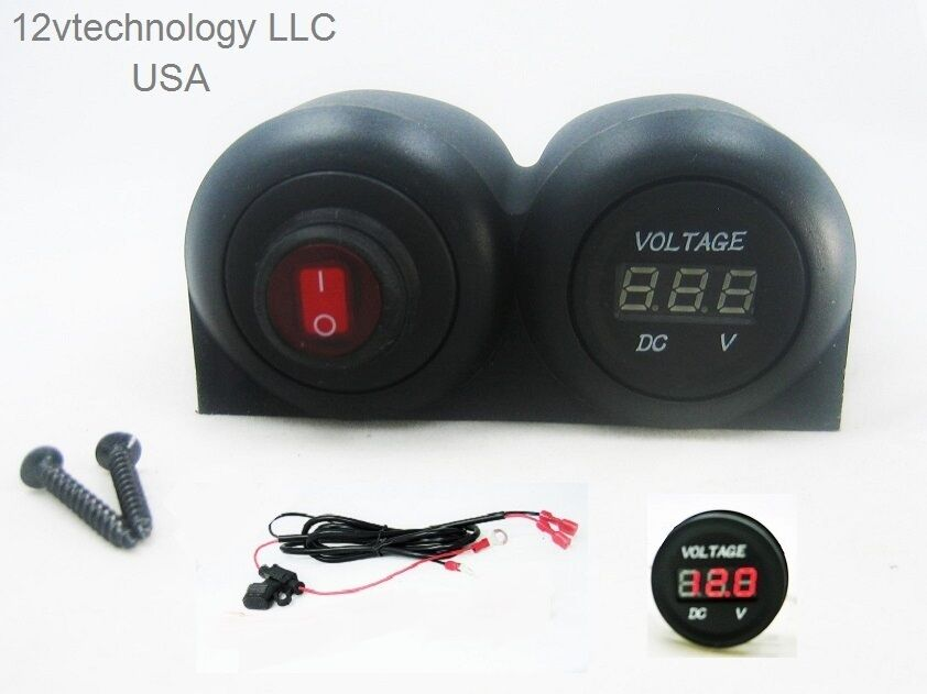 12v Rv Battery Monitor : V battery bank voltmeter monitor rv marine house