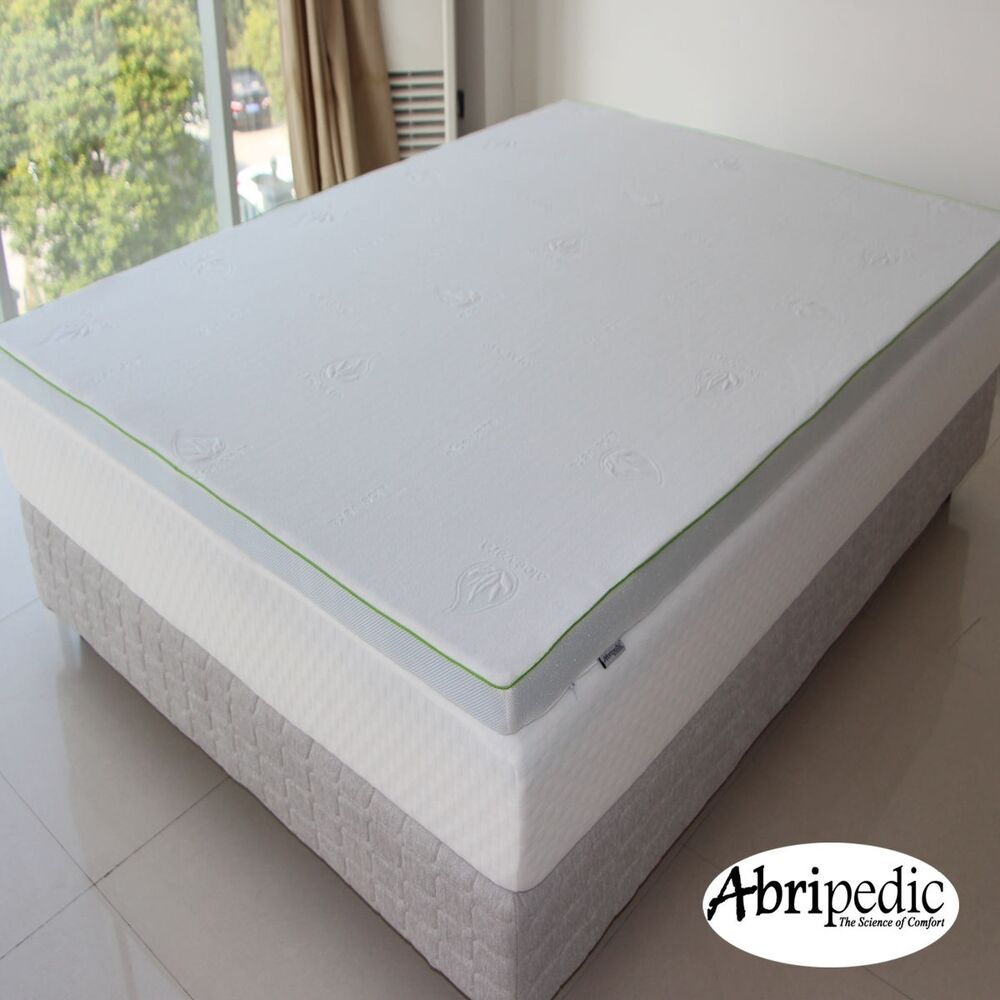 Abripedic 2 5 gel memory foam mattress topper hypoallergenic antibacterial pad ebay Top rated memory foam mattress