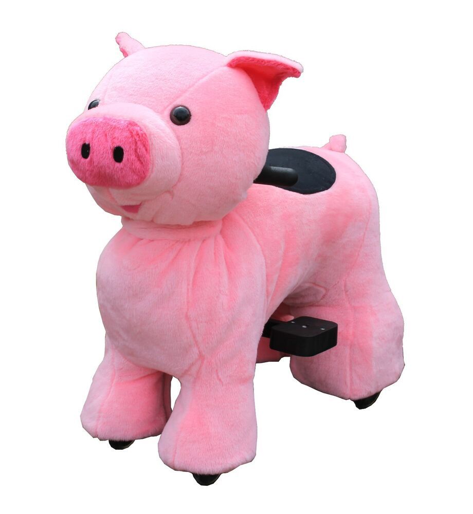 Motorized Ride On Toys For Kids Pink Pig 3 10 Yrs