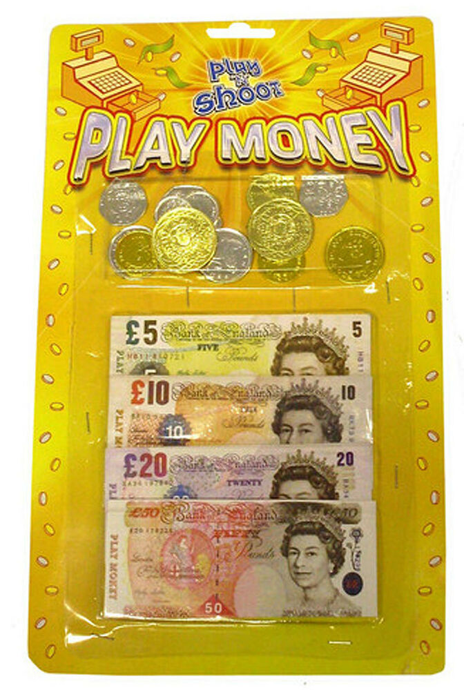 Pretend Toy Money : Packs of childrens kids toy play money notes coins