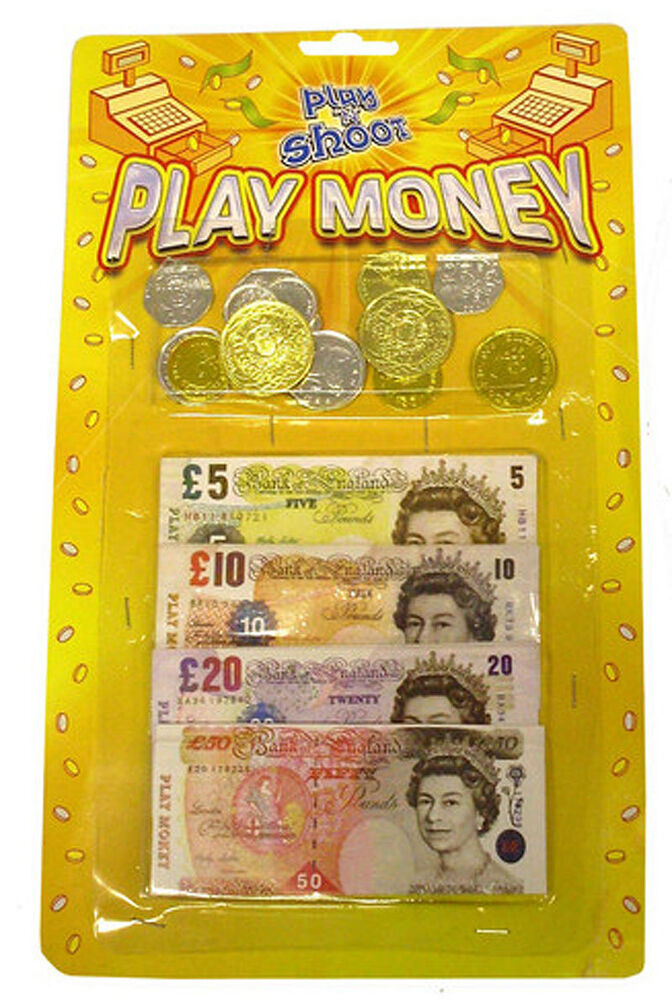 Play Money Toy : Packs of childrens kids toy play money notes coins