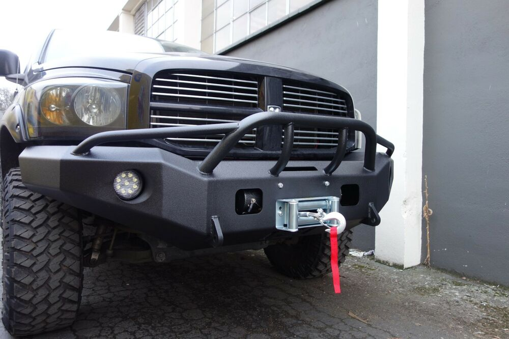 ford f150 brush guard with winch mount