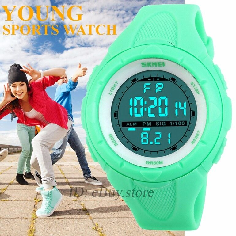 fashion new watches rubber digital led light date