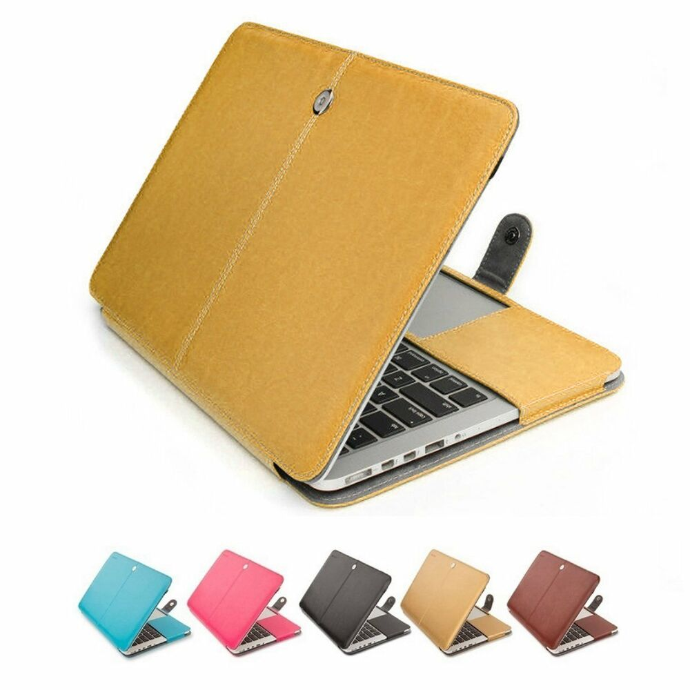 pu leather laptop sleeve bag case for apple mac macbook air pro retina 11 13 15 ebay. Black Bedroom Furniture Sets. Home Design Ideas