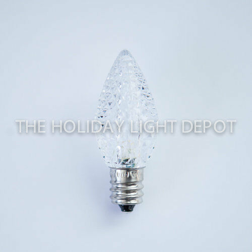 25 c7 pure white led christmas light bulb faceted led. Black Bedroom Furniture Sets. Home Design Ideas