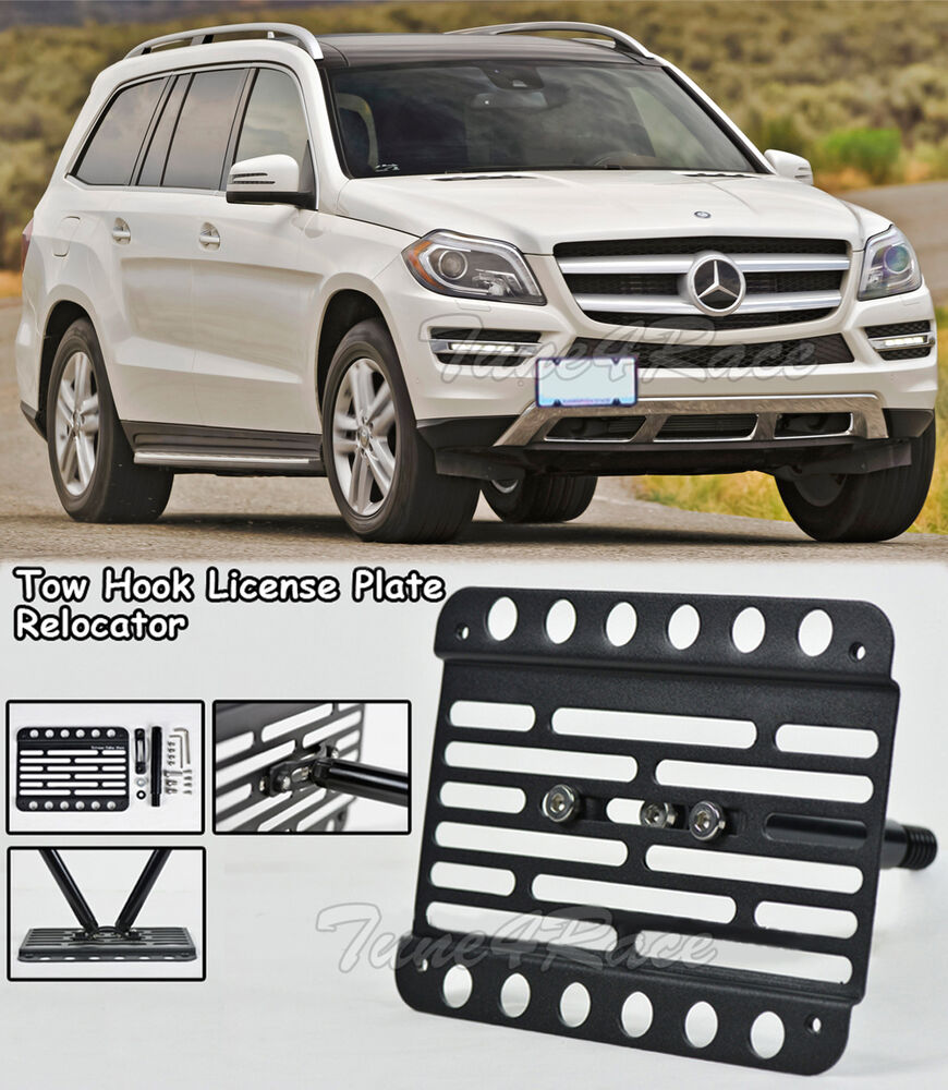 For 13 up benz gl350 gl450 front bumper tow hook license for Mercedes benz 2007 gl450 accessories