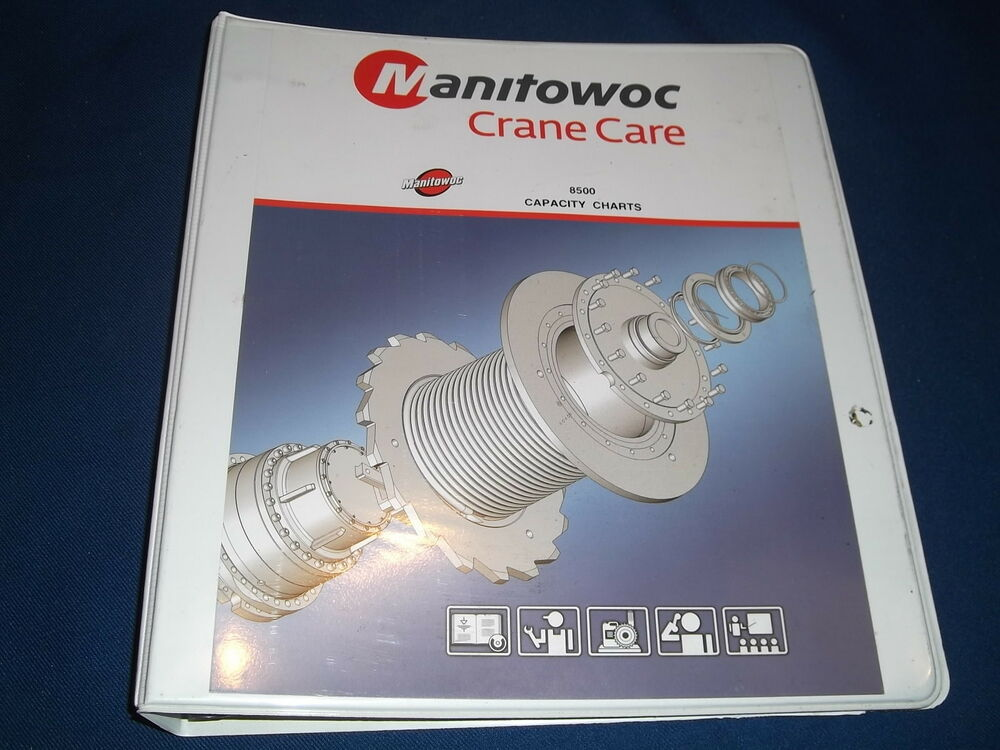 MANITOWOC 8500 CRANE CAPACITY CHARTS CATALOG BOOK MANUAL | eBay on