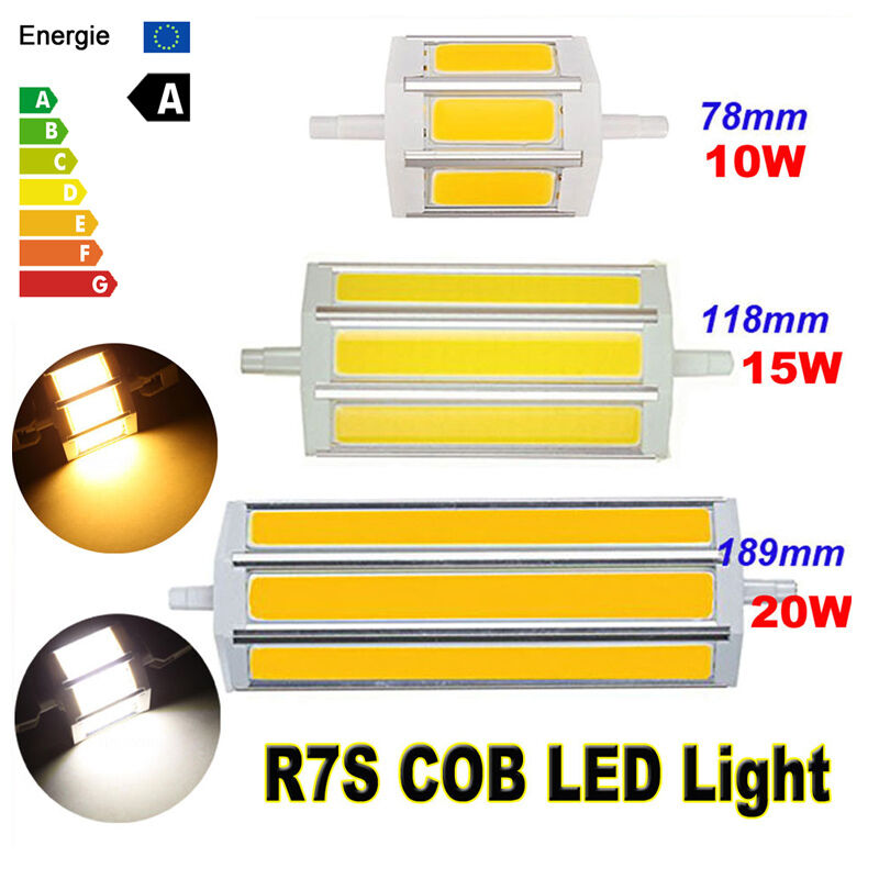 dimmable r7s j78 j118 cob led flood light bulb lamp replacement for halogen tube ebay. Black Bedroom Furniture Sets. Home Design Ideas