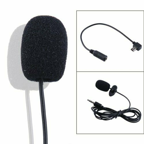 professional mini usb external microphone with collar clip for gopro hero 3 3 4 ebay. Black Bedroom Furniture Sets. Home Design Ideas