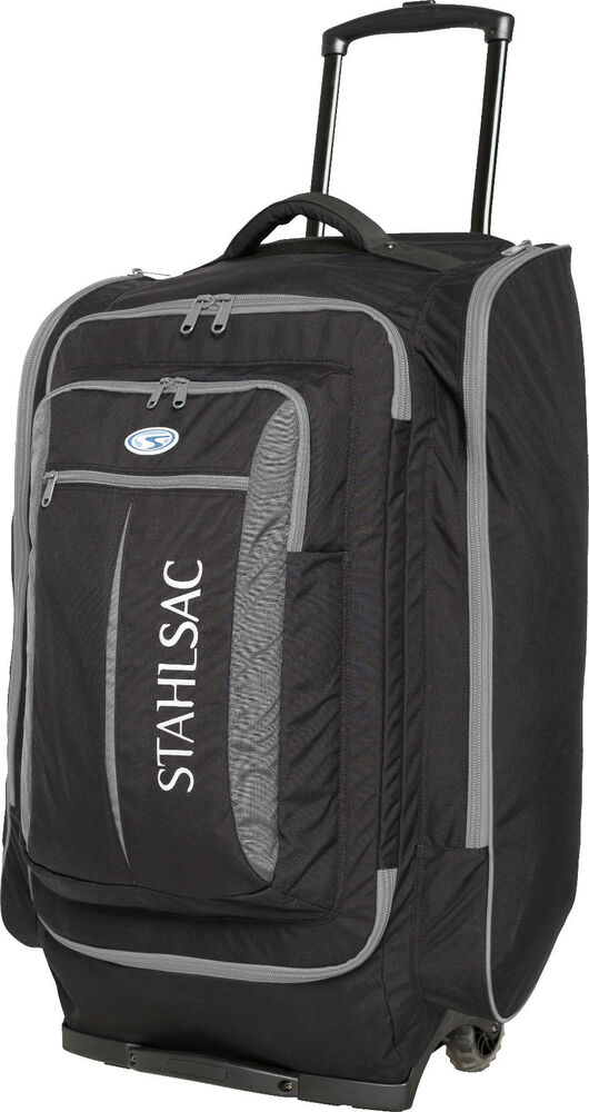 stahlsac caicos cargo pack wheeled scuba diving roller travel gear bag grey ebay On travel gear for diver