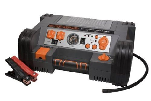 Black Amp Decker Professional Power Station Portable Camping