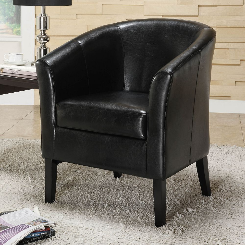 Black Living Room Furniture: Simon Linon BLACK Modern Contemporary Club Chair Accent