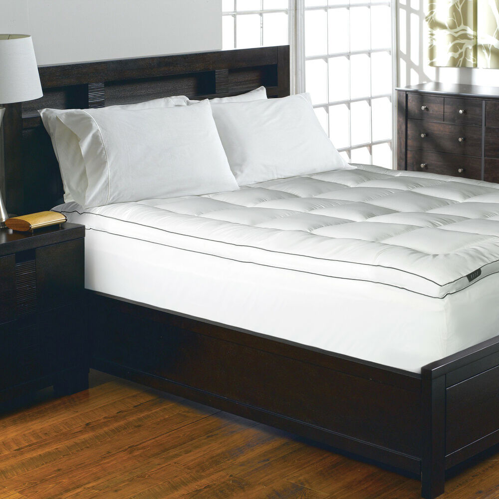 Elle 1200 Thread Count Cotton Rich Solid Mattress Pad Ebay