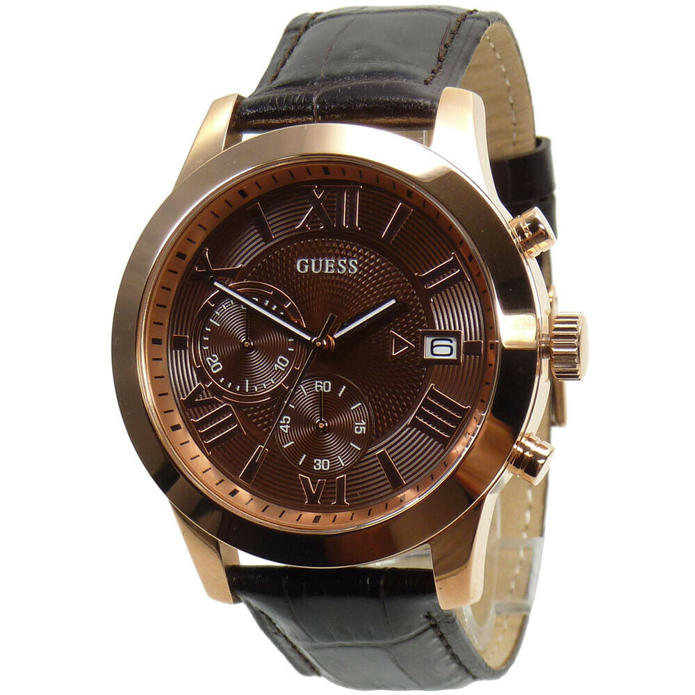 guess watch watches mens watch chronograph w0669g1 rose gold guess watch watches mens watch chronograph w0669g1 rose gold wristwatch new