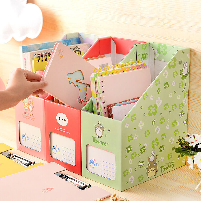 Fashion Diy Cardboard Storage Box Student Hostel Pen