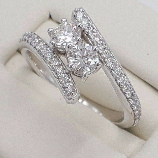 Forever Us 2 Stone Love Ring 1 00 Carat Si1 Hcolor Diamond
