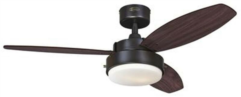 Shop Sea Gull Lighting 3 Light Melody Brushed Nickel: Alloy 42-Inch Reversible Three
