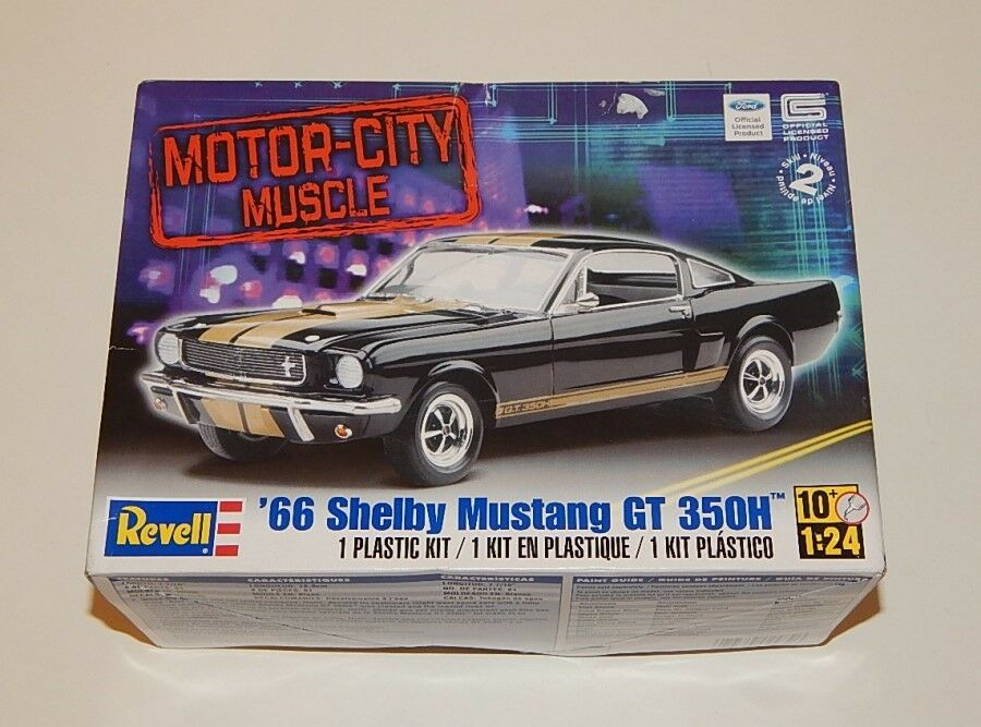 Revell motor city muscle 1966 shelby mustang gt 350h model for Ebay motors mustang gt