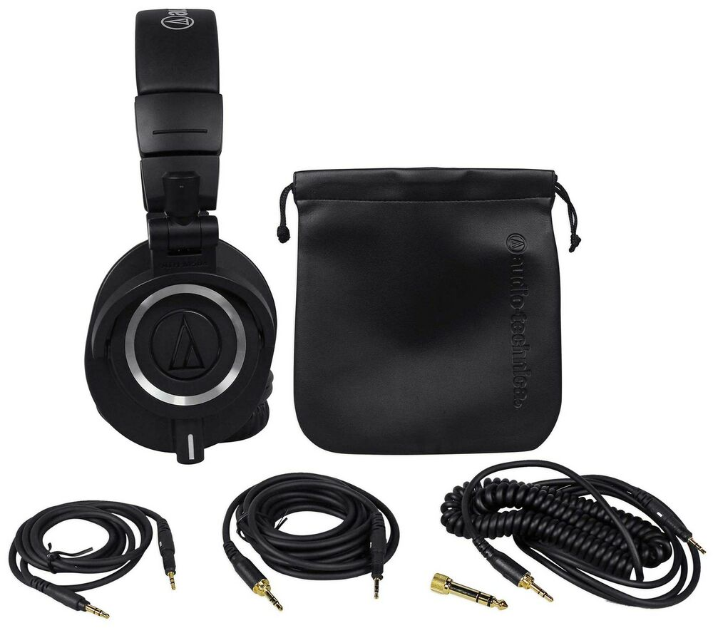 audio technica ath m50x over ear professional studio. Black Bedroom Furniture Sets. Home Design Ideas