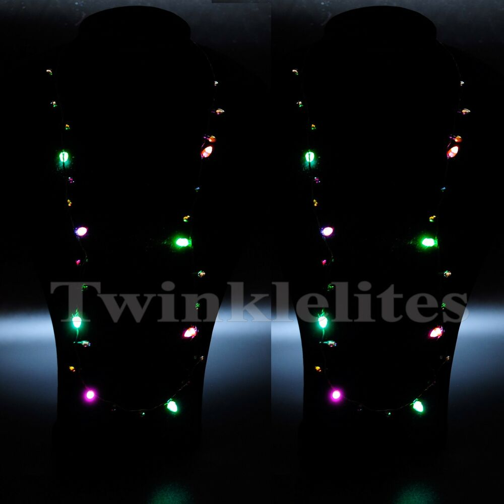 Half String Of Christmas Lights Blinking : 12 Pack Flashing Christmas Light Bulb Necklaces LED Holiday Glow Flashing Lights eBay