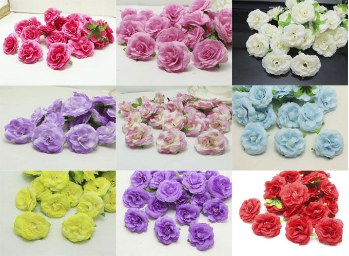 fake wedding flowers in bulk 50pcs 5cm new roses artificial flower silk heads bulk 4002