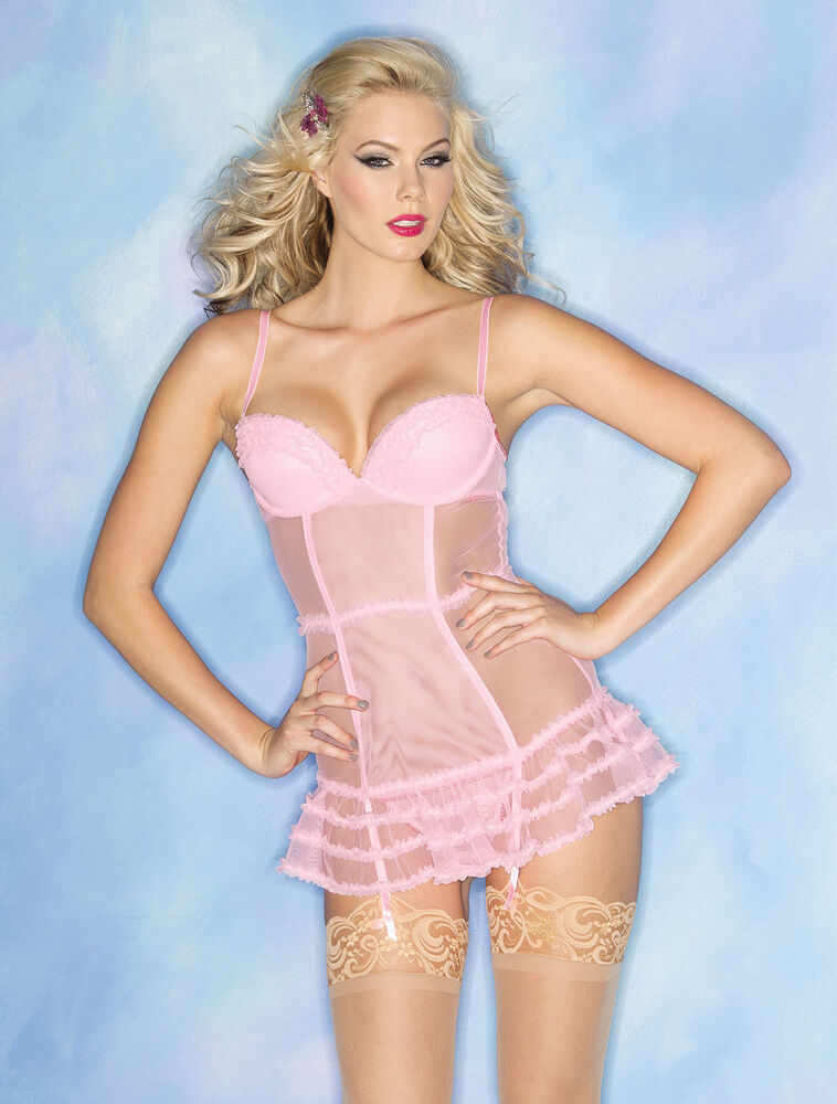 Be Wicked New Womens Hot Bedroom Lingerie Sheer Ruffle