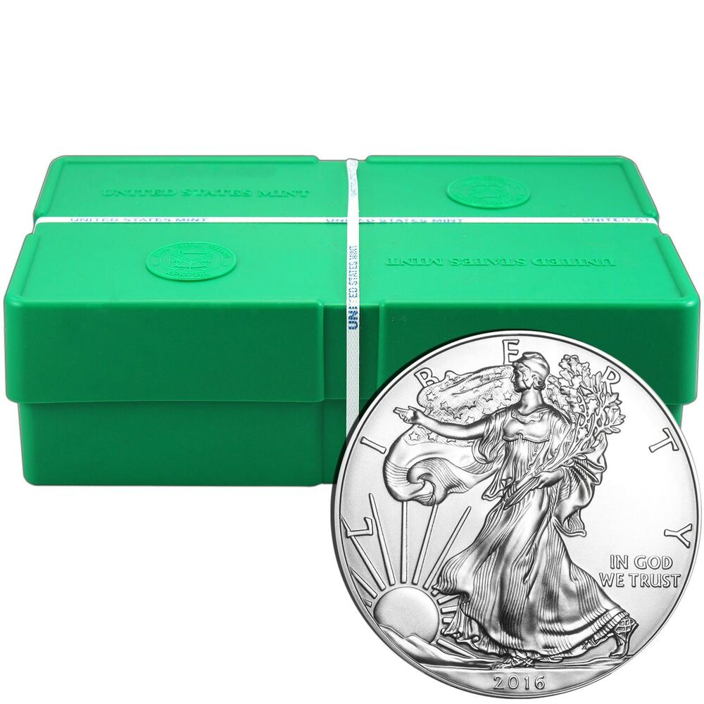 2016 Silver American Eagle Sae Bu 500pc Monster Box Ebay