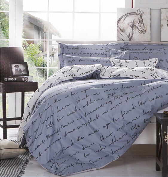 duvet quilt cover with pillow case bedding set twin full queen king size a ebay. Black Bedroom Furniture Sets. Home Design Ideas