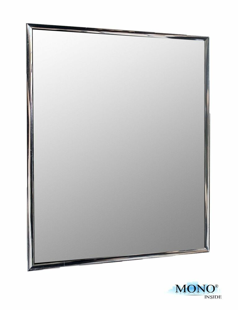 Wall mounted small mirror modern silver framed lightweight for Small white framed mirrors