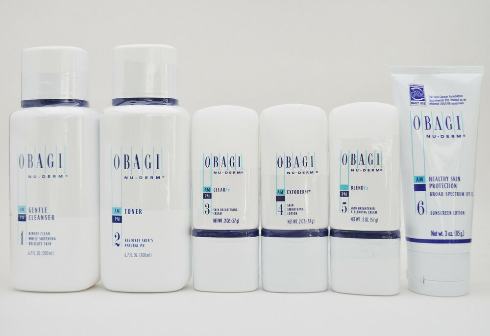Obagi Nu Derm Fx System Kit Of 6 Items For Normal To Dry