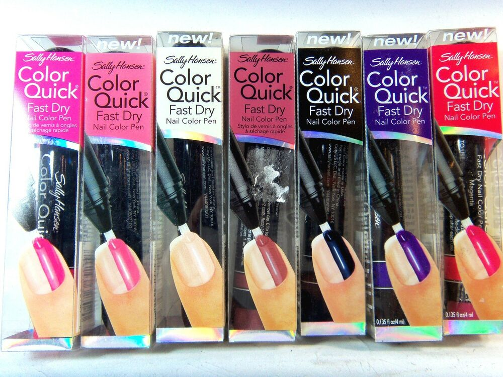 Sally Hansen Color Quick Fast Dry Nail Pen You Choose The Color Ebay