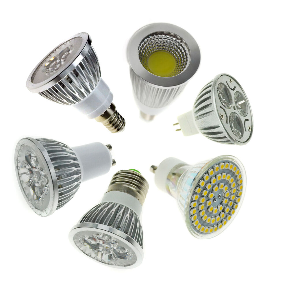 led spotlight e27 e14 gu10 mr16 3w 4w 5w 6w 9w 12w 15w bulb smd cob epistar lamp ebay. Black Bedroom Furniture Sets. Home Design Ideas